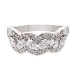 14KT White Gold 0.84ctw Diamond Ring