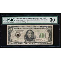 1934 $500 New York Federal Reserve Note PMG 30