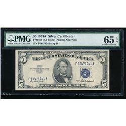 1953A $5 Silver Certificate PMG 65EPQ