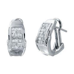 14KT White Gold 1.00ctw Diamond Earrings
