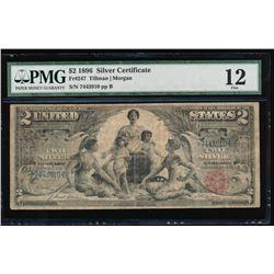 1896 $2 Silver Certificate PMG 12