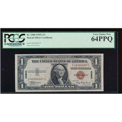 1935A $1 Hawaii Silver Certificate PCGS 64PPQ