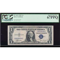 1935C $1 Silver Certificate PCGS 67PPQ