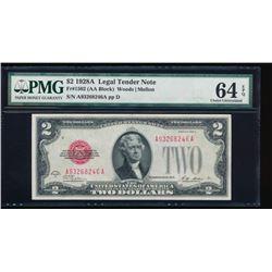 1928A $2 Legal Tender Note PMG 64EPQ