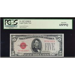 1928B $5 Legal Tender Note PCGS 65PPQ