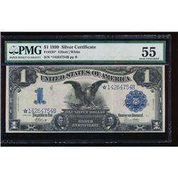 1899 $1 Black Eagle Star Silver Certificate PMG 55