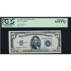 1934 $5 Silver Certificate PCGS 63PPQ