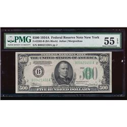 1934A $500 New York Federal Reserve Note PMG 55EPQ