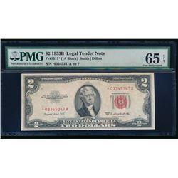 1953B $2 Legal Tender Star Note PMG 65EPQ
