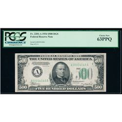 1934 $500 Boston Federal Reserve Note PCGS 63PPQ