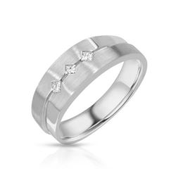 14KT White Gold 0.17ctw Diamond Wedding Band
