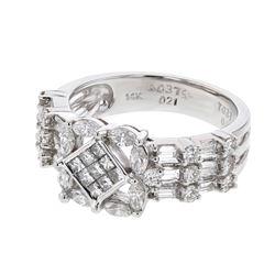 14KT White Gold 1.10ctw Diamond Ring