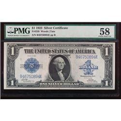 1923 $1 Silver Certificate PMG 58