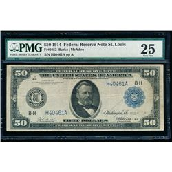 1914 $50 Saint Louis Federal Reserve Note PMG 25