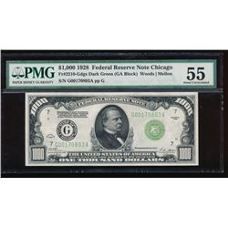 1928 $1000 Chicago Federal Reserve Note PMG 55