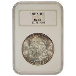 1892-O $1 Morgan Silver Dollar Coin NGC MS63