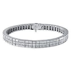 14KT White Gold 7.50ctw Diamond Bracelet