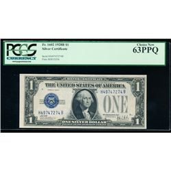1928B $1 Silver Certificate PCGS 63PPQ