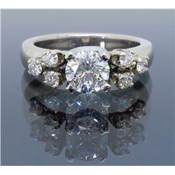 Platinum 0.75ct GIA Cert Diamond Ring