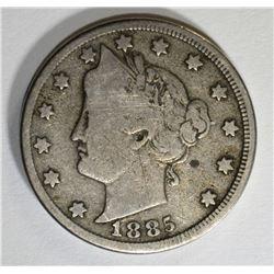 1885 LIBERTY NICKEL, FULL VG  KEY COIN