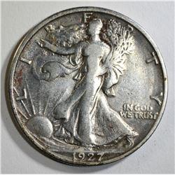 1927-S WALKING LIBERTY HALF DOLLAR, VF/XF