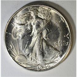 1946-S WALKING LIBERTY HALF DOLLAR, CH BU