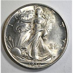 1936 WALKING LIBERTY HALF DOLLAR, CH BU+