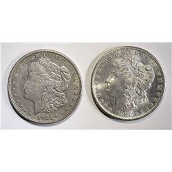 1881-S & 1921-D CH BU MORGAN DOLLARS