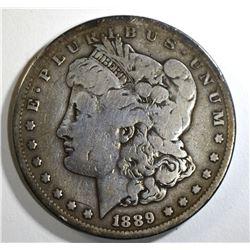 1889-CC MORGAN DOLLAR, VG/FINE KEY COIN