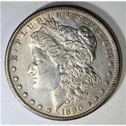 1890-CC MORGAN DOLLAR, AU