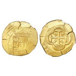 Mexico City, Mexico, cob 8 escudos, (17)14J, Royal obverse die, encapsulated NGC MS 61, ex-1715 Flee