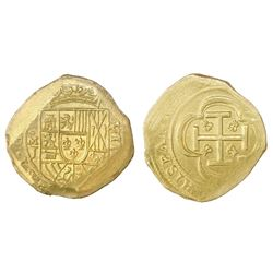 """Mexico City, Mexico, cob 8 escudos, (1714)J, """"GRAT"""" variety, ex-1715 Fleet."""