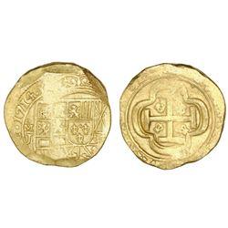 Mexico City, Mexico, cob 8 escudos, 1714J, NGC MS 63, ex-1715 Fleet (designated on label).