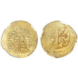 Mexico City, Mexico, cob 4 escudos, 1713J, NGC AU 58, ex-1715 Fleet (designated on label).