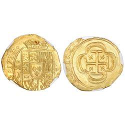 Mexico City, Mexico, cob 2 escudos, 1714J, NGC MS 65, ex-1715 Fleet (designated on label), ex-Dr. Fr