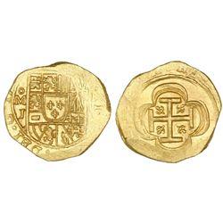 Mexico City, Mexico, cob 2 escudos, (1714)J, NGC MS 65, ex-1715 Fleet (designated on label).