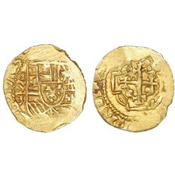 Mexico City, Mexico, cob 1 escudo, 1713J, mintmark oM, NGC MS 63, ex-1715 Fleet (designated on label