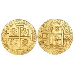 Lima, Peru, cob 8 escudos, 1711M, from the 1715 Fleet.