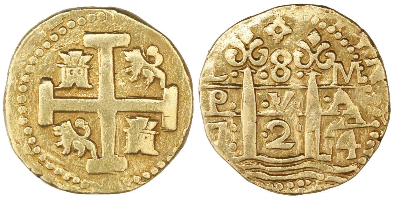 Lima, Peru, cob 8 escudos, 1724M