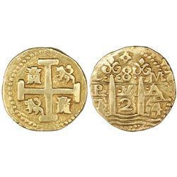 Lima, Peru, cob 8 escudos, 1724M.