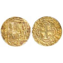 Bogota, Colombia, cob 4 escudos, 1753S, very rare, PCGS XF45, ex-Eldorado.