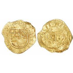"""Bogota, Colombia, cob 2 escudos, 1633, assayer A below mintmark NR to left, NGC MS 63, ex-""""Mesuno ho"""