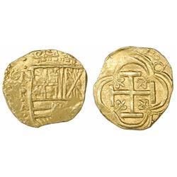 """Bogota, Colombia, cob 2 escudos, Philip IV, assayer A below mintmark NR to left (NRA), ex-""""Mesuno ho"""
