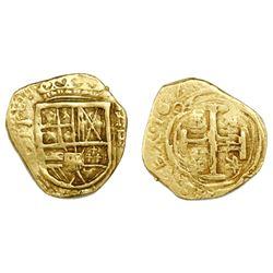 Bogota, Colombia, cob 2 escudos, 1643(?)R, rare.