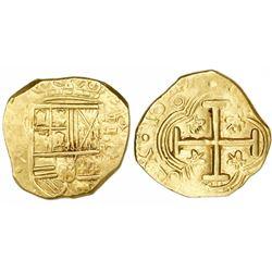 Bogota, Colombia, cob 2 escudos, 1647R, rare.