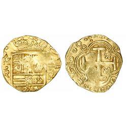 Bogota, Colombia, cob 2 escudos, 1660R, rare, ex-Lasser collection.
