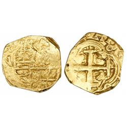 Bogota, Colombia, cob 2 escudos, (166)4( R), mintmark RN to left (unique).