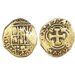 Bogota, Colombia, cob 2 escudos, 1734/3(M).