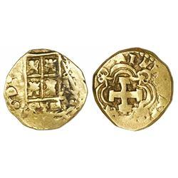 Bogota, Colombia, cob 2 escudos, (17)41(M), retrograde 4, ex-Caballero, ex-Santa Fe.