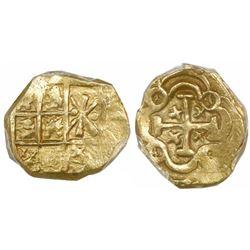Bogota, Colombia, cob 1 escudo, posthumous Charles II, no assayer (Arce), PCGS AU58, ex-1715 Fleet.